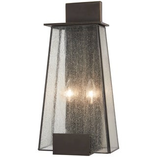 Bistro Dawn 2-Light Dakota Bronze Outdoor Wall Mount