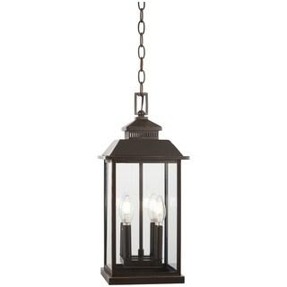 Miner'S Loft 4-Light Oil Rubbed Bronze High Chain Hung Lantern