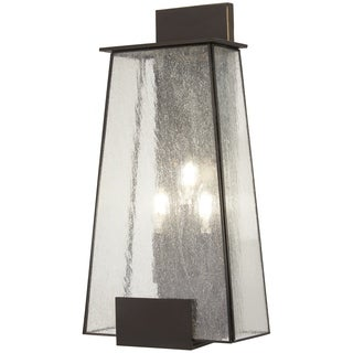 Bistro Dawn 3-Light Dakota Bronze Outdoor Wall Mount