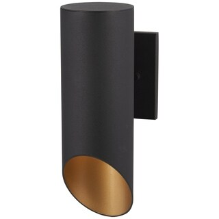 Pineview Slope 1-Light Black W/Gold Outdoor Wall Mount
