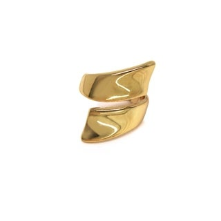 Eternally Haute High Polished Gold Wrap Around Ring