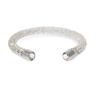 Eternally Haute Single Cuff Crystal White Bracelet