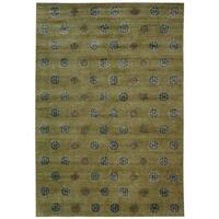 Safavieh Couture Hand-Knotted Contemporary Sage Wool & Silk Rug (9' x 12')
