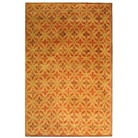 Safavieh Couture Hand-Knotted Contemporary Vermillion Wool & Silk Rug (8' x 10')