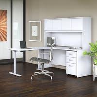 Bush Business Studio C 72W x 24D L Shaped Desk Office Suite in White