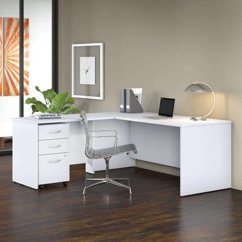 Studio C 72W L Shaped Desk with Mobile File Cabinet and 42W Return