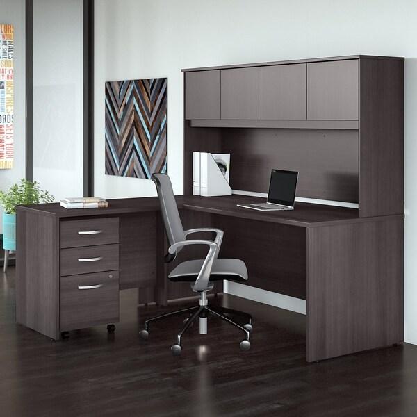 Shop Studio C 72w X 30d L Shaped Desk 4 Piece Office Suite