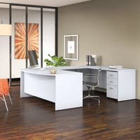 Bush Business Studio C 72W U Shaped Desk with Mobile File Cabinet