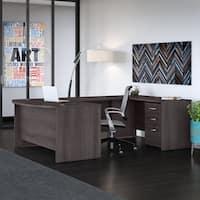 Bush Business Studio C 60W U Shaped Desk with Mobile File Cabinet
