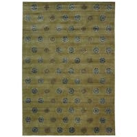Safavieh Couture Hand-Knotted Contemporary Sage Wool & Silk Rug - 6' x 9'