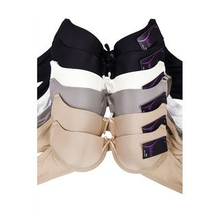 Sofra & Mamia 6-Pack Full Coverage Bras (Assorted Colors)