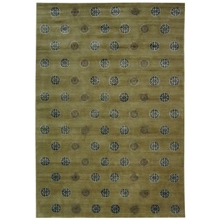 Safavieh Couture Hand-Knotted Contemporary Sage Wool & Silk Rug - 4' x 6'