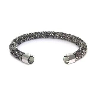 Eternally Haute Single Cuff Crystal Grey Bracelet