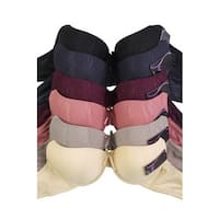 Sofra & Mamia 6-Pack Full Coverage Jacquard Bras (Assorted Colors)