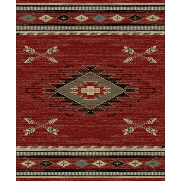 Rustic Throw Rugs: Shop Southwestern Lodge Rustic Red Area Rug
