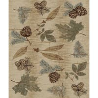 """Fall Leaves Pine Cone Rustic 5'x7' Area Rug 5'3""""x7'3"""" - 7'10"""" x 9'10"""""""