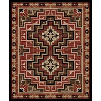 "Southwestern Lodge Rustic Red Area Rug - 7'10"" x 9'10"""