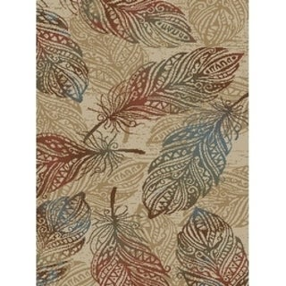 """Rustic Feather Natural Beige 2'x3' Area Rug 2'3""""x3'3"""" - 2'3"""" x 3'3"""""""