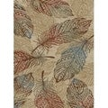"""Rustic Feather Natural Beige Area Rug - 2'3"""" x 3'3"""""""