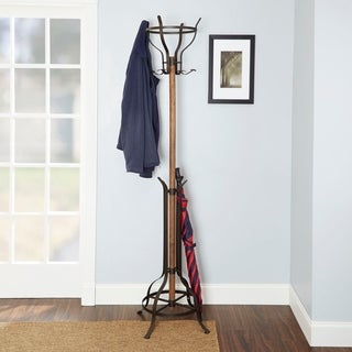 Egan Mixed Material Coat Rack