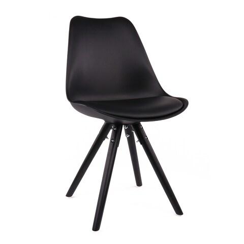 Viborg Black Mid Century Side Chair Black Base (Set of 2)