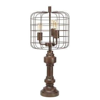 Thom 3 Light Table Lamp with Metal Cage