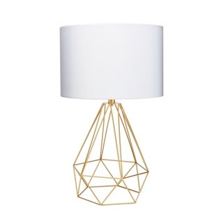 """Celeste 26"""" Wire Prism Table Lamp, Gold"""