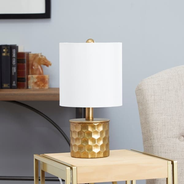 Shop Black Friday Deals On The Hive Mini Gilded Table Lamp With Shade Gold Overstock 20006953