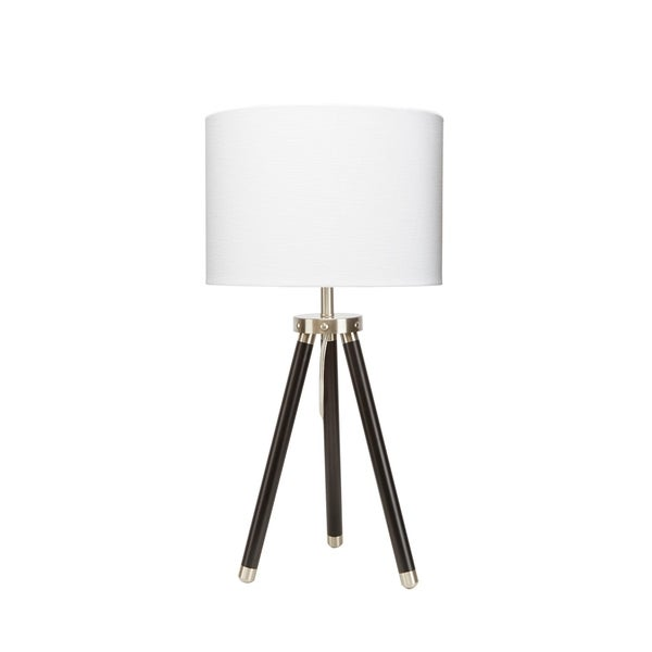 Beaufort Nickel Accented Tripod Table Lamp
