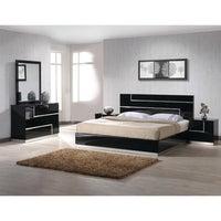 Best Master Furniture 5 Pcs Black Platform Bedroom Set