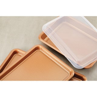 Ayesha Curry Bakeware Covered Cake Pan, 9-Inch x 13-Inch, Copper