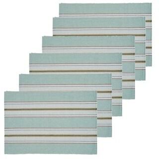 Laurel Green Cotton Placemat Set of 6
