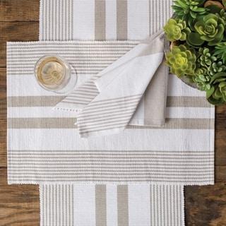 Kyleigh Black & White Stripe Placemat Set 6