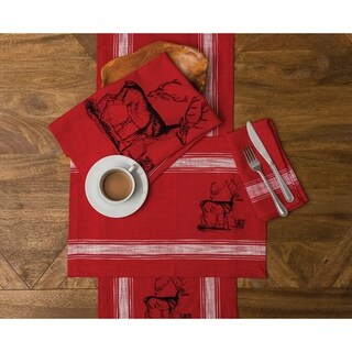 Dearborn Stag Feed Sack Placemat Set 6