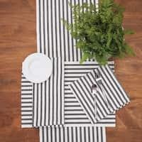 Aidan Ticking Stripe Black Placemat Set of 6