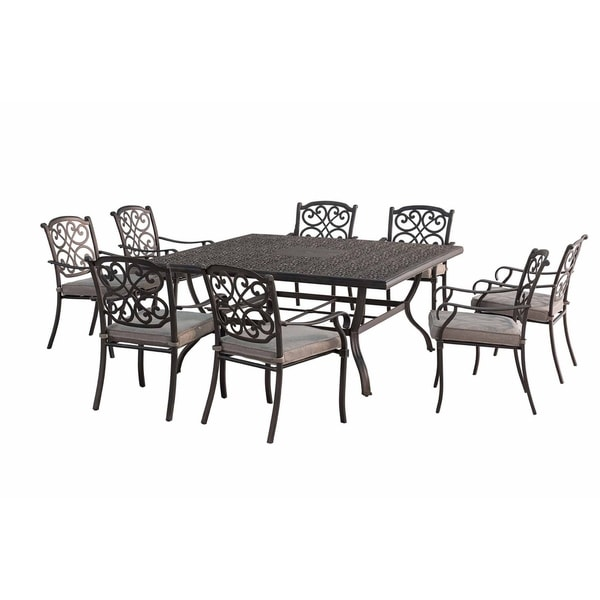 Roosevelt 9 Piece Outdoor Square Dining Set