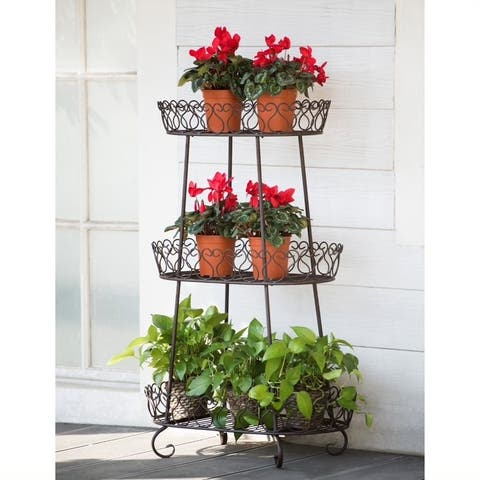 Sunjoy Oval Plant Stand