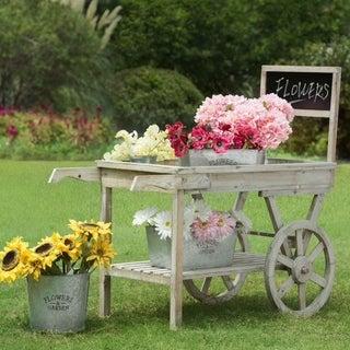 Wooden Outdoor Garden Cart
