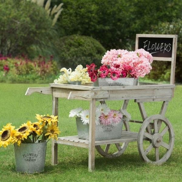 Sunjoy Wooden Garden Cart