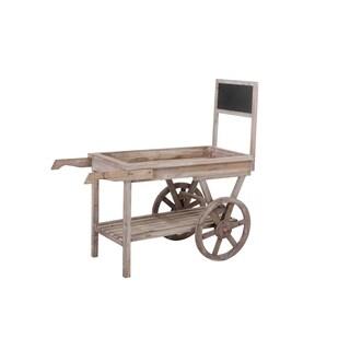 Wooden Outdoor Garden Planter Cart