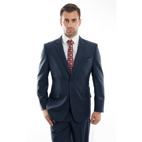 Mens Vintage Wool Suits Notch Lapel Suit Set