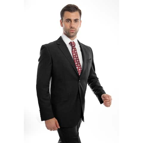 Men's Jacket Suit Modern Fit Notch Lapel Slanted Pocket Suit