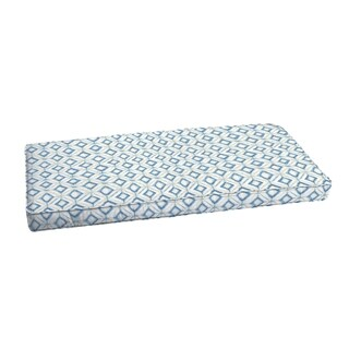 Humble + Haute Blue Diamond Tile Corded Indoor/ Outdoor Cushion