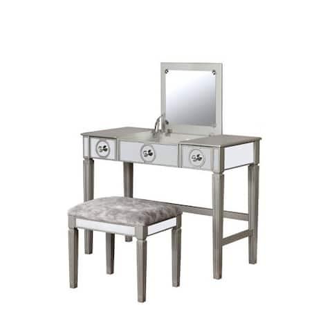 Blaire Silver Vanity Set