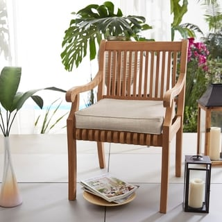 Humble + Haute Sunbrella Cast Silver Corded Indoor/ Outdoor Chair Cushion