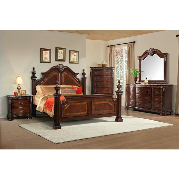 cambridge lakeside 5 piece queen size bedroom suite free shipping today overstock 25919227. Black Bedroom Furniture Sets. Home Design Ideas