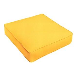 Humble + Haute Sunbrella Canvas Sunflower Yellow Corded Indoor/ Outdoor Chair Cushion