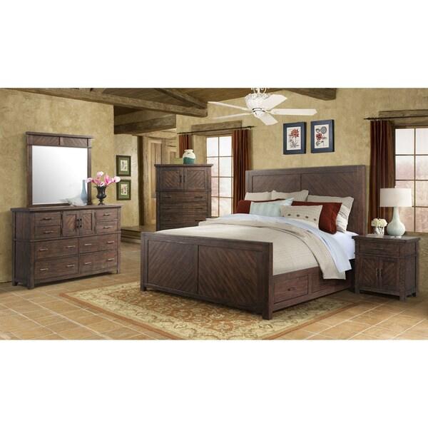 Cambridge Montana Storage 5 Piece Bedroom Suite: King Size Bed, Dresser,
