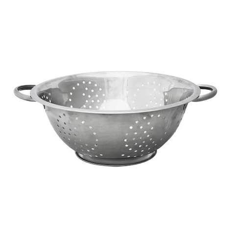 Home Basics Silver 5-quart Deep Colander