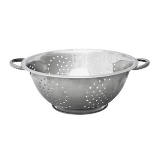 Home Basics Silver 5-quart Deep Colander